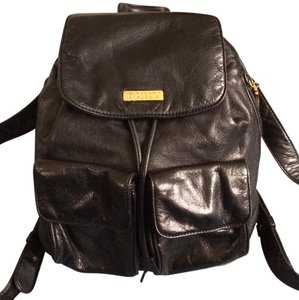 DKNY Leather Leather Fashion Backpack