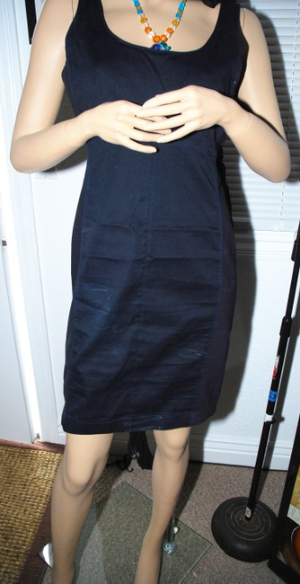 Gap short dress Blue Back Zipper Navy Stretchy Versatile Style Date Night Club Night Work Office Cute Sexy Great Condition on Tradesy