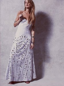 Free People White Cotton Polyester Rayon Jills Limited Edition Mirror Formal Wedding Dress Size 4 (S)