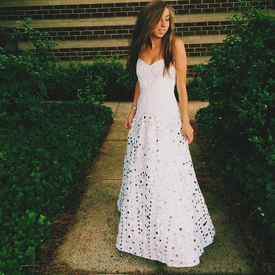 Free People Wedding Dress.Free People White Cotton Polyester Rayon Price Just Reduced Jills Limited Edition Mirror Formal Wedding Dress Size 4 S