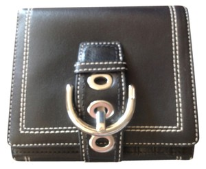 Coach NWOT Coach Black French Bifold Wallet