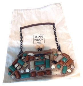 Jamin Puech Taupe Clutch