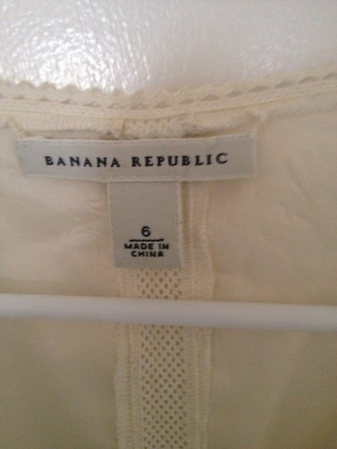 Banana Republic Lace Silk Top Cream
