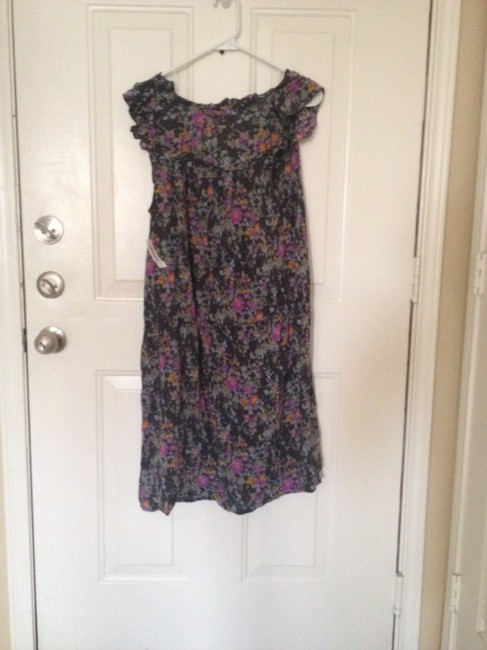 Old Navy short dress Blue Purple Floral Floral Ruffle on Tradesy