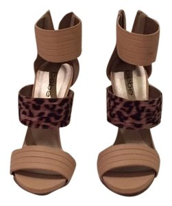 bebe Strappy Leopard Sandals
