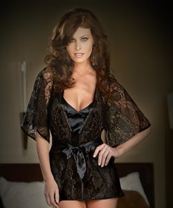 Twilight Black Babydoll With Robe