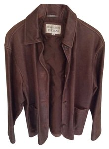 Brandon Thomas Brown distressed Leather Jacket