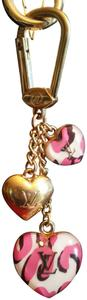 Louis Vuitton Louis Vuitton Heart Leopard Blanc Corail Bag Charm Key Holder