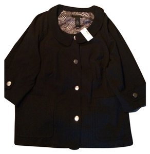 Brand new Lane Bryant size 26 black jacket with silver buttons. Blac Jacket
