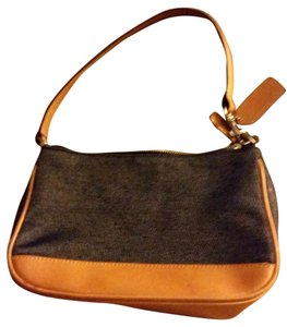 Coach #7594 Leather Denim Baguette