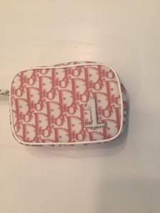 Dior New Christian Dior Wristlet (limited Edition) With Pink And White Logo