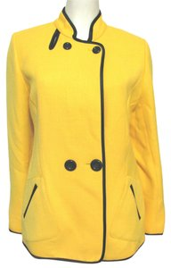 Juliana Collezione Jacket Wool Nylon yellow Blazer