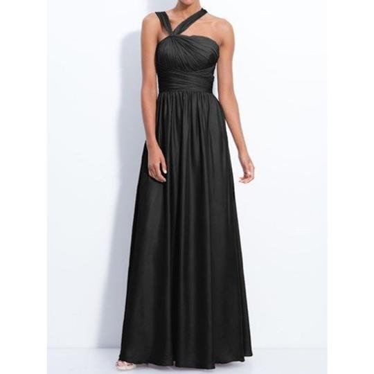 Monique Lhuillier Black Polyester Formal Bridesmaid/Mob Dress Size 6 (S)