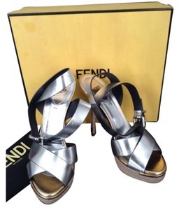 Fendi Silver & Gold Platforms