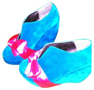 Makers Beautiful blue suede WORN 1x Platforms