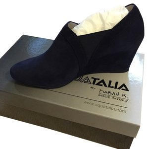 Aquatalia by Marvin K. Navy Blue Wedges