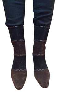Salvatore Ferragamo Black and brown Boots