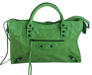 Balenciaga Limited Edition Tote in Lime Green