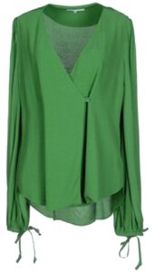 Carven Wrap Top Green