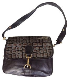 Nine West Animal Print Zipper Pulls Cross Body Bag