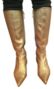 Dolce&Gabbana Soft Leather Goldish Color Boots