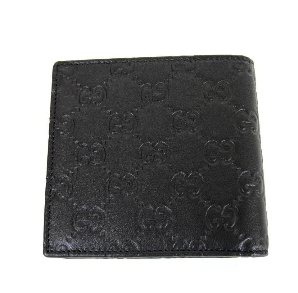 20dfc45a9614 Gucci Black New Mens Guccissima Leather W/Coin Pocket Wallet - Tradesy