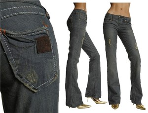 Stitch's Boot Cut Jeans-Distressed