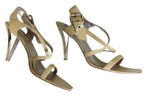 Nine West Sexy Strappy Comfortable Cream and Silver Formal