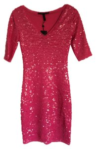 BCBGMAXAZRIA Sequin Sparkle Hot Dress