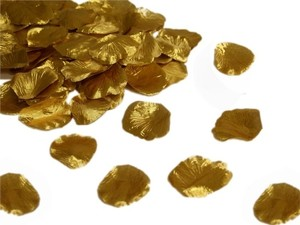 Gold 1000x Shiny Rose Petal - 22 More Colors Available Centerpieces Table Top Aisle Runner