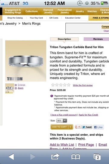 Preload https://item2.tradesy.com/images/silverother-triton-tungsten-carbide-men-s-wedding-band-80146-0-0.jpg?width=440&height=440