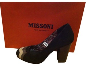 Missoni for Target Designer Suede Night Out Heels Chevron Black Pumps