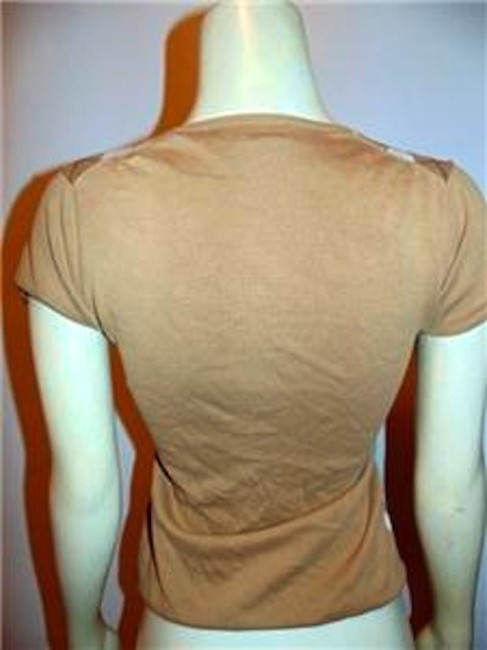 J.Crew X-small P315 Size Top BEIGE AND WHITE