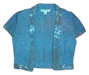 White House | Black Market Open Front Silver Sequins Small P313 Cardigan