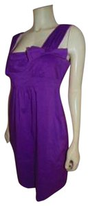 BCBGMAXAZRIA short dress PURPLE Bow Size Medium P309 on Tradesy