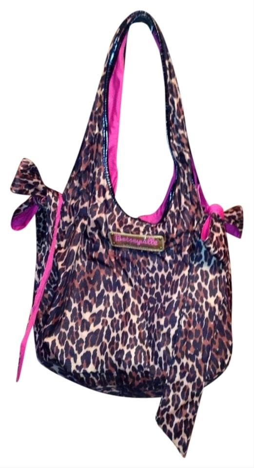 Betsey Johnson Betsyville Brown Leopard Amp Hot Pink 63 Off