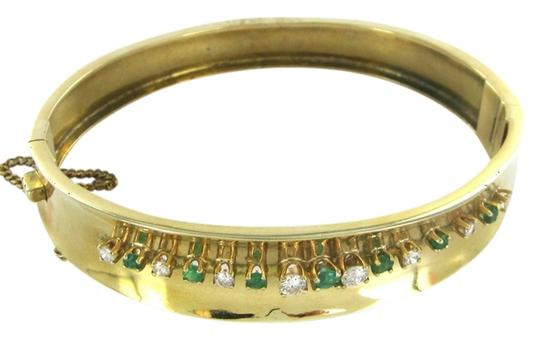 Preload https://item2.tradesy.com/images/gold-18k-solid-yellow-diamonds-6-emeralds-258-grams-bangle-bracelet-801876-0-0.jpg?width=440&height=440