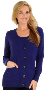 Olivia & Grace Cashmere Button Down Shirt NAVY