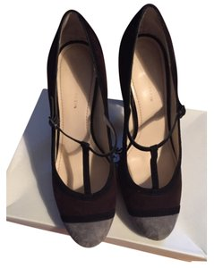Anne Klein Grey and brown suede Pumps