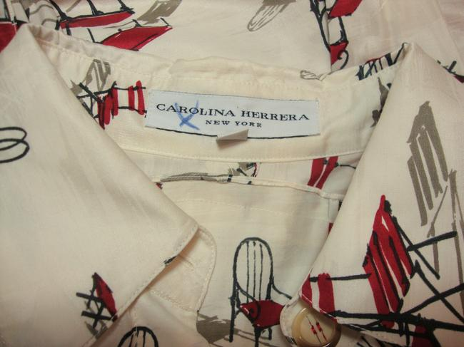 Carolina Herrera short dress White Silk Spring on Tradesy