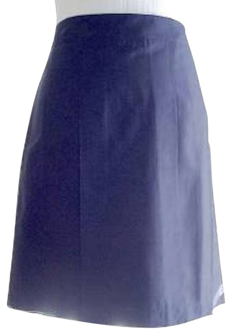Ann Taylor LOFT Pleated Navy New Skirt Blue