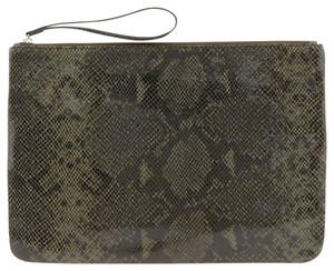 Banana Republic New Oversized Dark Green/Black/Brown Clutch