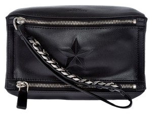 Givenchy Blue Peekaboo Wristlet in Black