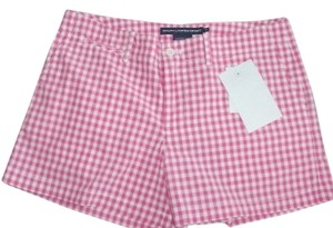 Ralph Lauren New Plaid 100% Cotton Dress Shorts Pink