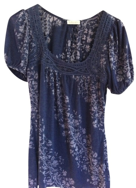 Testament Casual New Tops And Blouses T Shirt Navy Blue (Light toned)