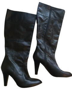Coach Heeled Leather Black Boots