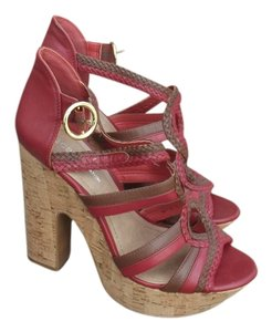 BCBGeneration Bcbg Red Multi Color Platforms