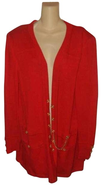 St. John By Marie Gray Marie Gray Knit Red Jacket