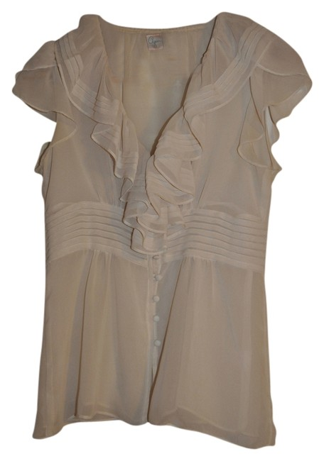 Aqua Vintage Look Top Cream