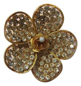 OTHER FLOWER PIN/BROOCH RHINESTONES